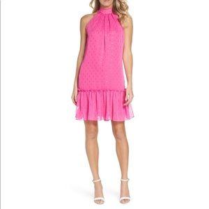 Trina Turk Bodega Bay Hot Pink Shift Dress Medium